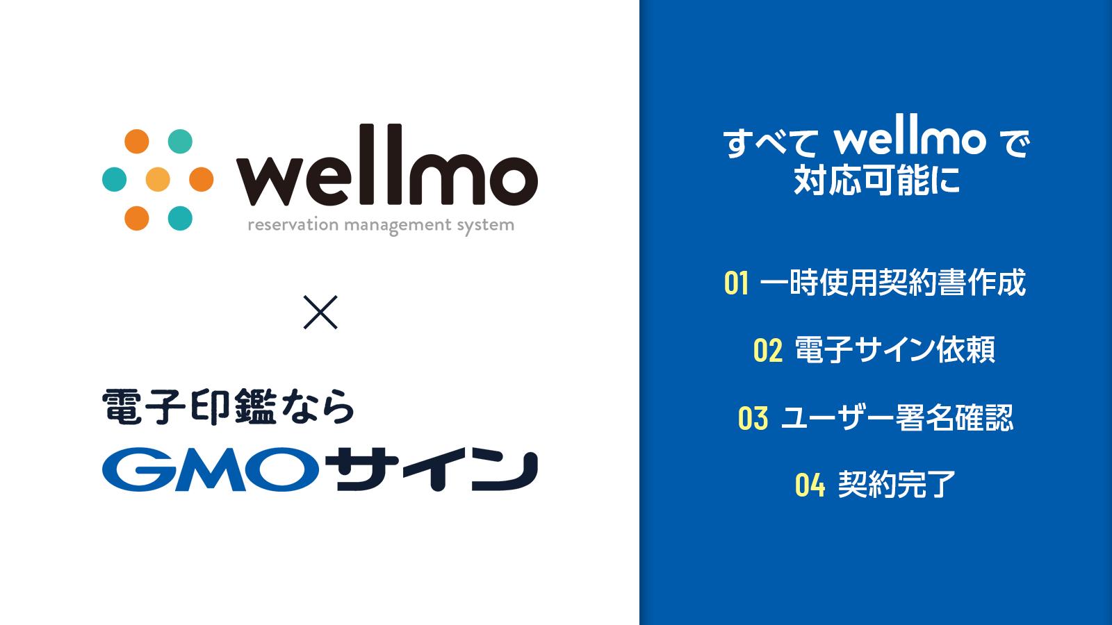 【PR】wellmo『電子サイン』機能リリース!電子契約サービス「電子印鑑GMOサイン」と連携